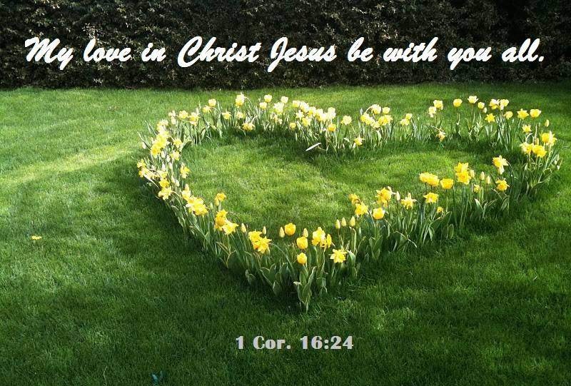 1 Cor. 6:24 My love in Christ Jesus be with you all