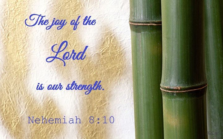 Nehemiah 8:10 The Joy of the Lord is Our Strength