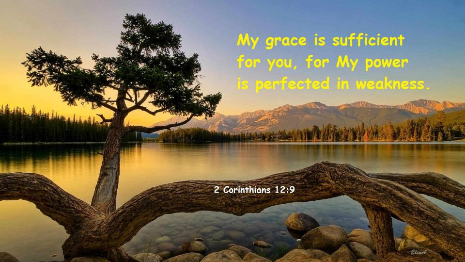 2 Corinthians 12:9 My grace is sufficient for you, for My power is perfected in weakness