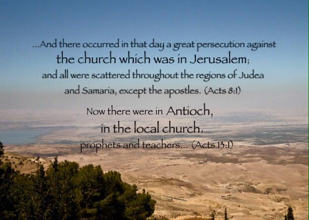 Acts 13:1 Now there were in Antioch, in the local church, prophets and teachers: Barnabas and Simeon, who was called Niger, and Lucius the Cyrenian, and Manaen, the foster brother of Herod the tetrarch, and Saul.