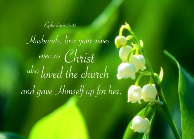Ephesians 5:25 Husbands, love your wives even as Christ also loved the church and gave Himself up for her.